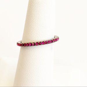 Henri Bendel stackable Crystal ring size 7